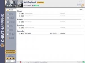 NieR: Replicant Trainer for PC game version v1.0